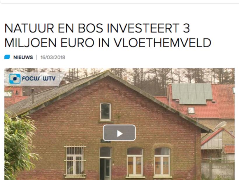 Natuur en Bos investeert 3 miljoen euro Vloethemveld